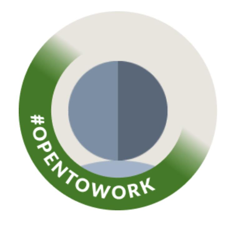 #Opentowork-Fotoframe