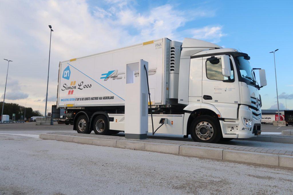 Laadpaal voor e-trucks albert heijn